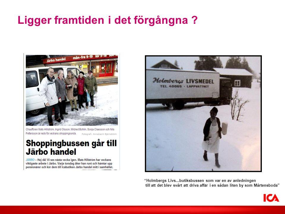 """Ligger framtiden i det förgångna ? """"Holmbergs Livs...butiksbussen som var en av anledningen till att det blev svårt att driva affär i en sådan liten b"""