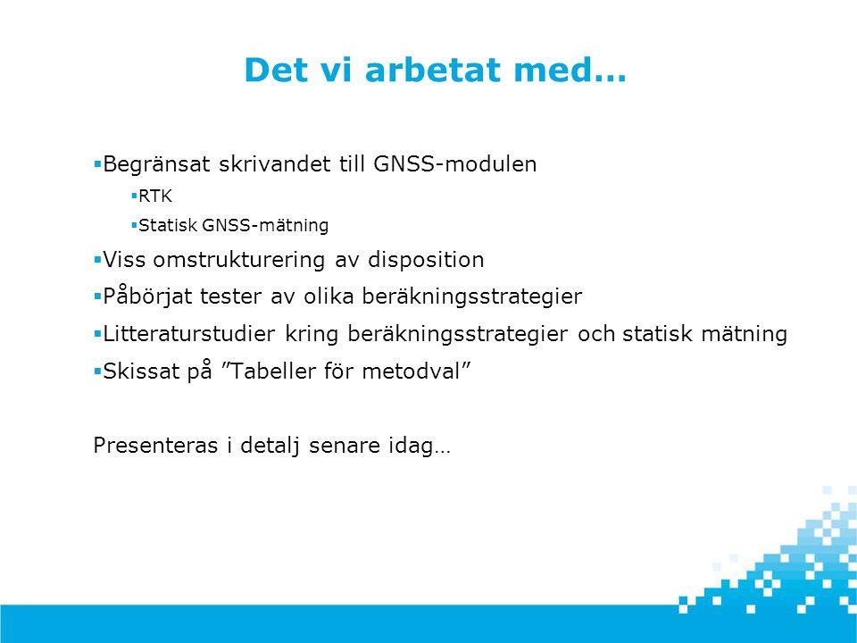 HMK - en handbok i mät- och kartfrågor Sammanfattning HMK-Geodesi, 2013-10-18, Stockholm