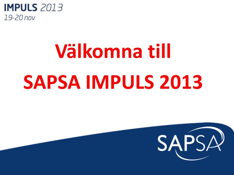 Välkomna till SAPSA IMPULS 2013