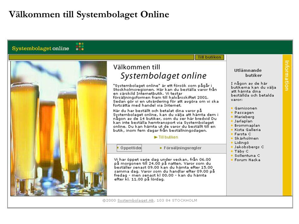 Välkommen till Systembolaget Online