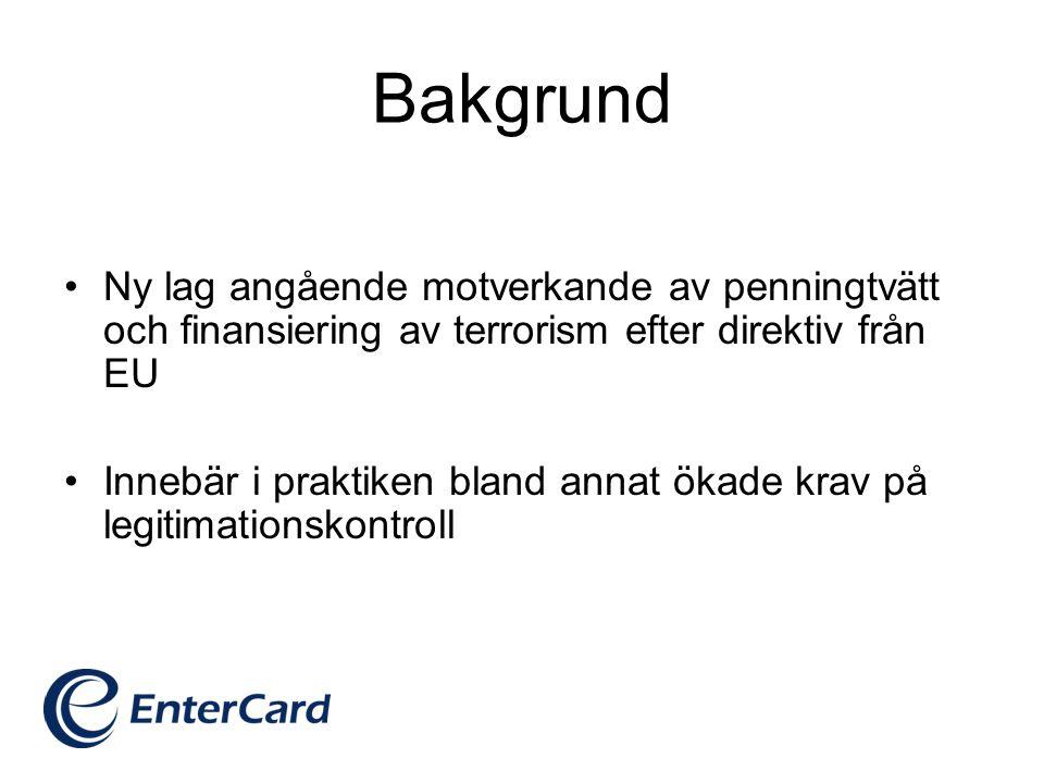 1.Kontrollera att du fått in en korrekt vidimerad kopia på godkänd* id-handling tillsammans med kreditansökan.