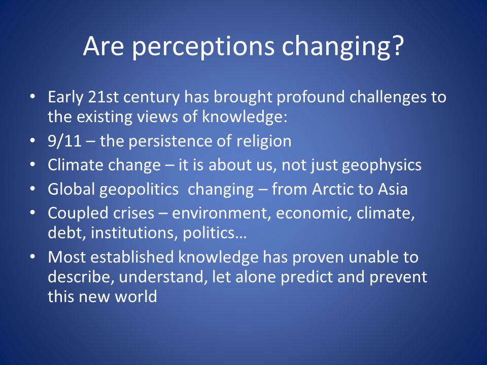 Are perceptions changing.