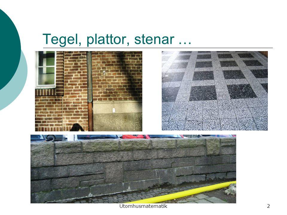 lisbeth.ringdahl@mah.se Utomhusmatematik2 Tegel, plattor, stenar …