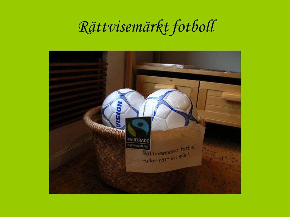 FOTBOLLAR •FOTBOLLAR, Rättvisemärkta Sackeus fotbollar är Rättvisemärkta och det innebär att de är producerade utan barnarbete och med godkänd lön för de anställda.