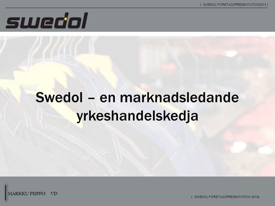 MARKKU PIIPPO VD SWEDOL FÖRETAGSPRESENTATION 2013 Swedol – en marknadsledande yrkeshandelskedja