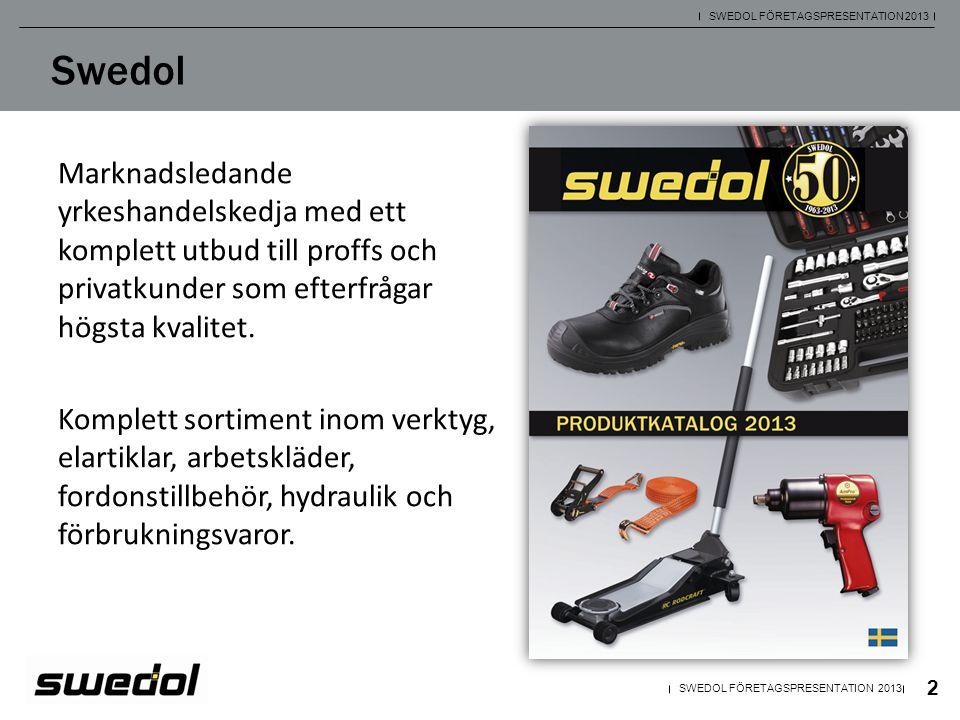 Swedol Marknadsledande yrkeshandelskedja med ett komplett utbud till proffs och privatkunder som efterfrågar högsta kvalitet. Komplett sortiment inom