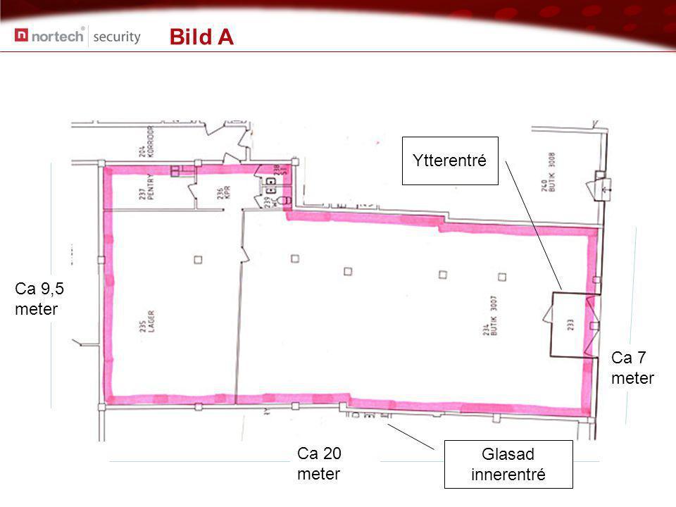 Bild A Ca 7 meter Ca 20 meter Ca 9,5 meter Glasad innerentré Ytterentré