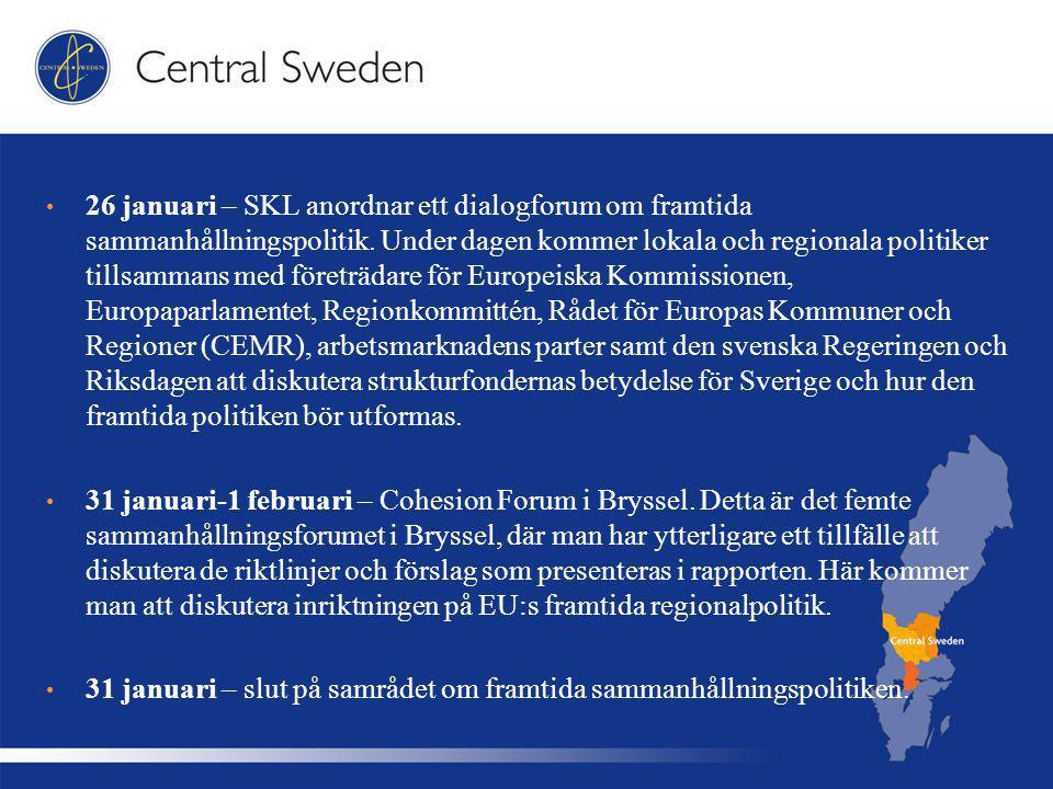 26 januari – SKL anordnar ett dialogforum om framtida sammanhållningspolitik.