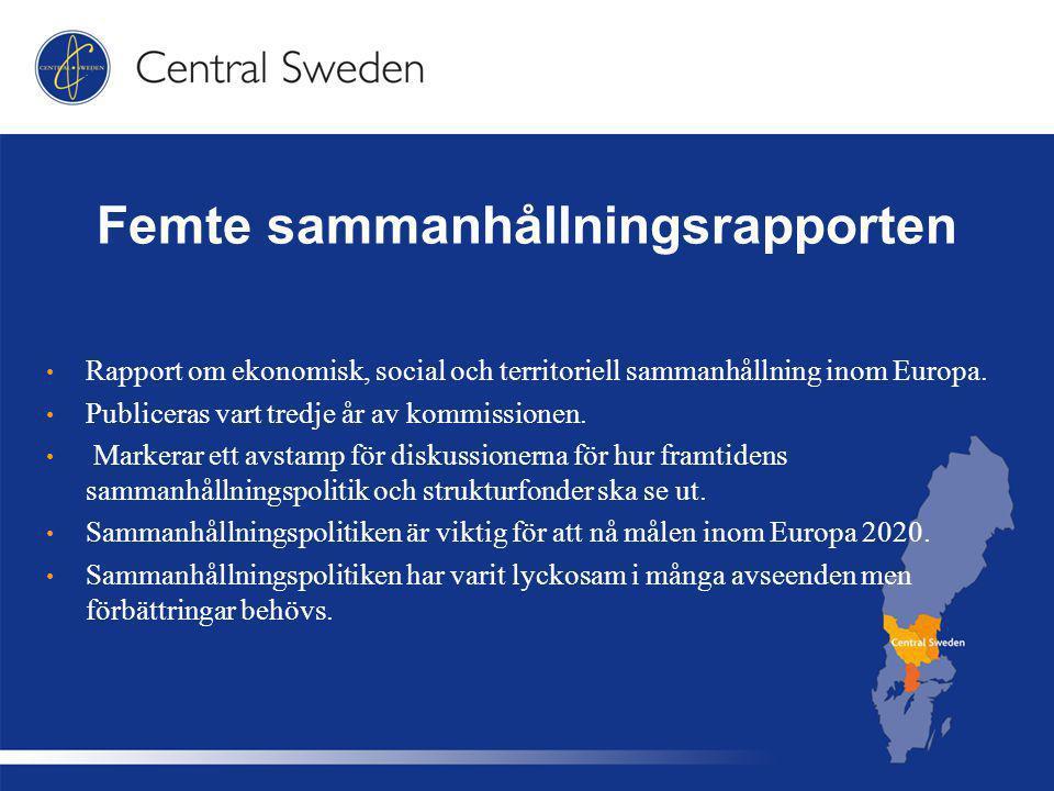 Femte sammanhållningsrapporten Rapport om ekonomisk, social och territoriell sammanhållning inom Europa.
