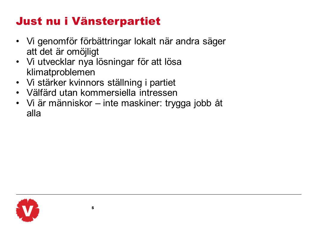 6 Vänsterpartiet www.vansterpartiet.sePolitisk översiktskurs Del 2: Fyra konkreta politiska exempel Jobben: Vad gör vi åt massarbetslösheten.