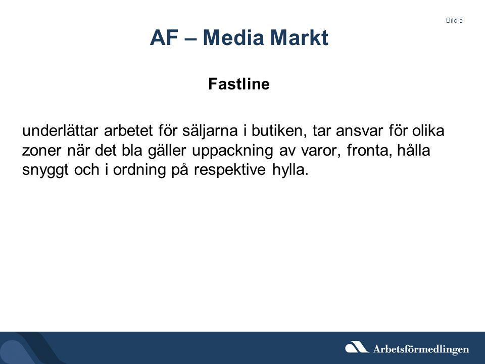 AF – Media Markt Fastline underlättar arbetet för säljarna i butiken, tar ansvar för olika zoner när det bla gäller uppackning av varor, fronta, hålla snyggt och i ordning på respektive hylla.