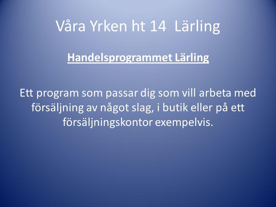 Handelsprogrammet Lärling Mikaela gjorde praktik ett år på Tempo i Malmköping och två år på Scorett skobutik.