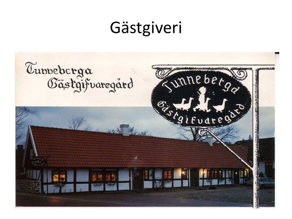 För flera hundra år sedan fanns det inga stora hotell som det finns idag Historien om logi börjar med små gästgiverier I Sverige har gästgiverier och värdshus långa traditioner De flesta finns i gamla kulturbyggnader på landsbygden, som slott, herrgårdar eller gårdar På gästgiverier står ofta maten i fokus Många väljer att hålla sina bröllop, begravningar eller andra högtider där Gästgiverierna och värdshusen erbjuder även konferenser eller affärsluncher