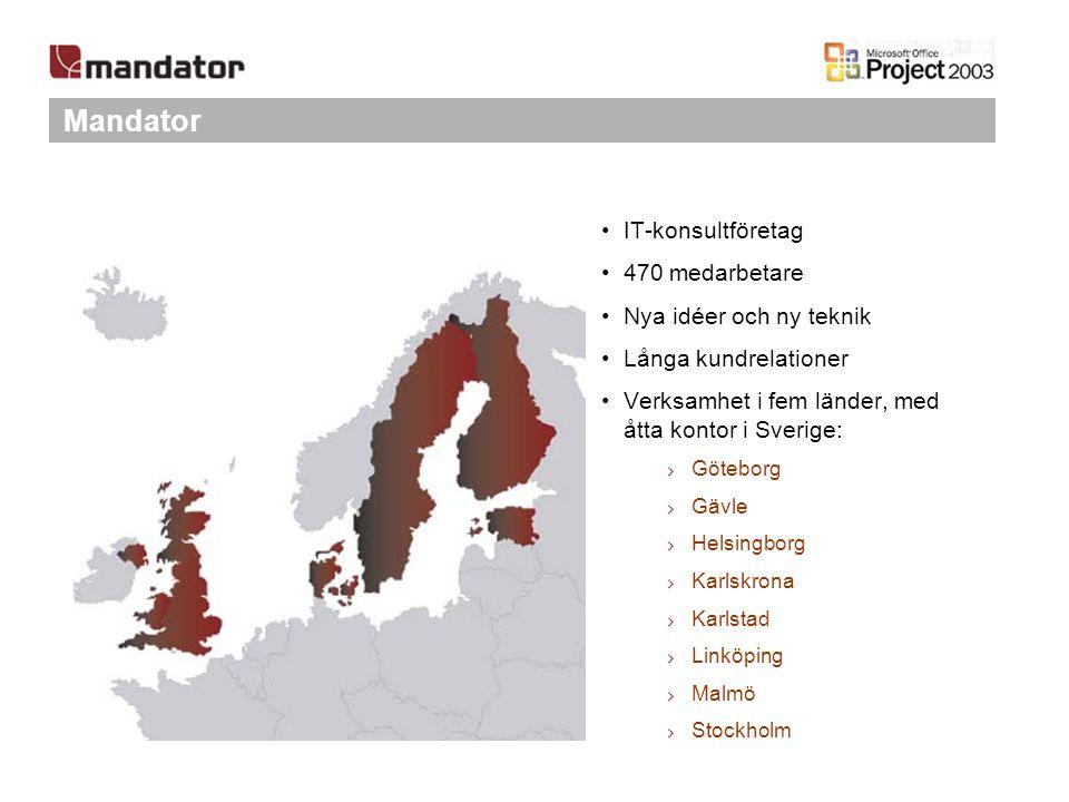 IT-konsultföretag 470 medarbetare Nya idéer och ny teknik Långa kundrelationer Verksamhet i fem länder, med åtta kontor i Sverige: Göteborg Gävle Hels