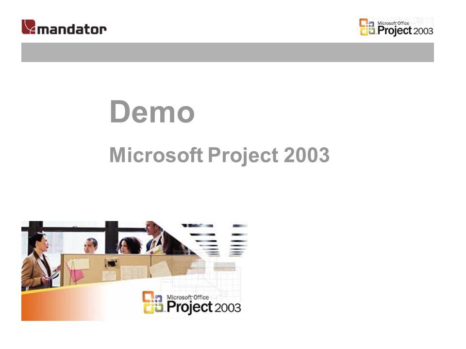 Demo Microsoft Project 2003