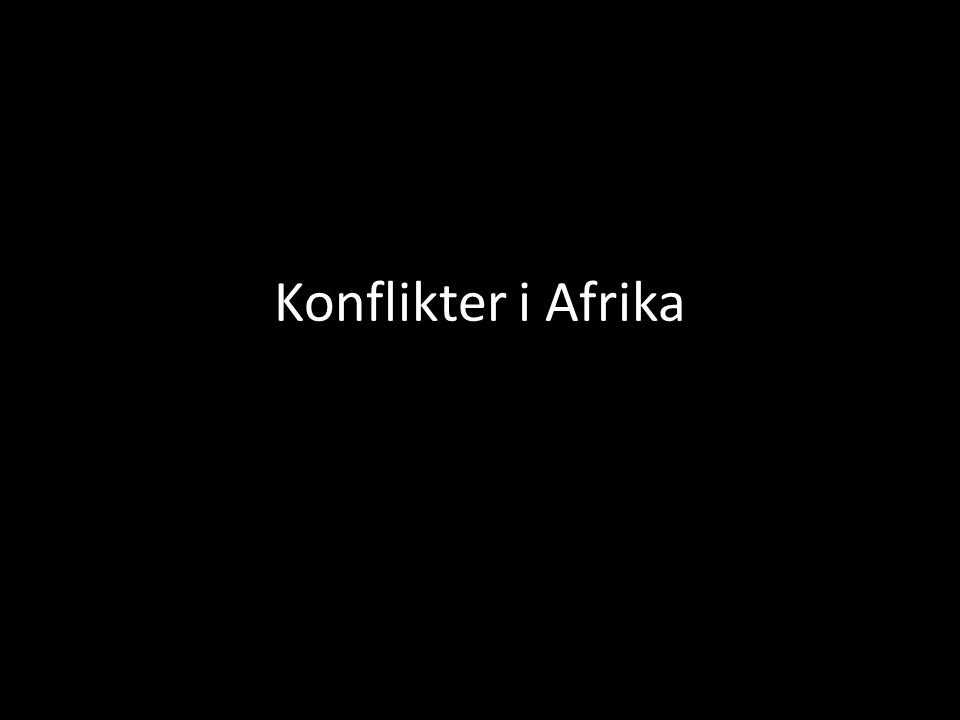 Konflikter i Afrika