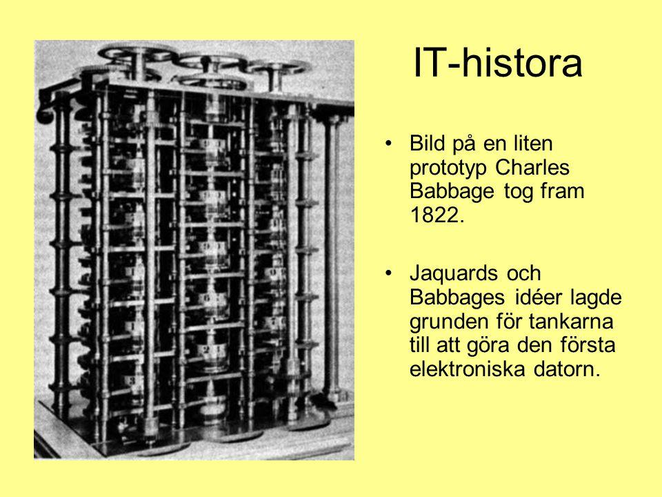 IT-histora Bild på en liten prototyp Charles Babbage tog fram 1822.