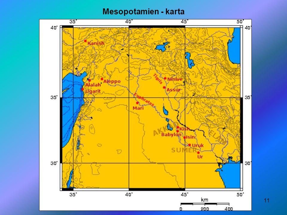 11 Mesopotamien - karta