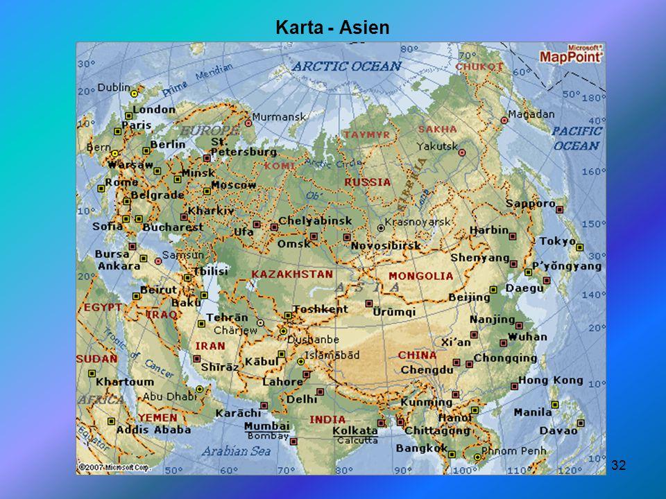 32 Karta - Asien