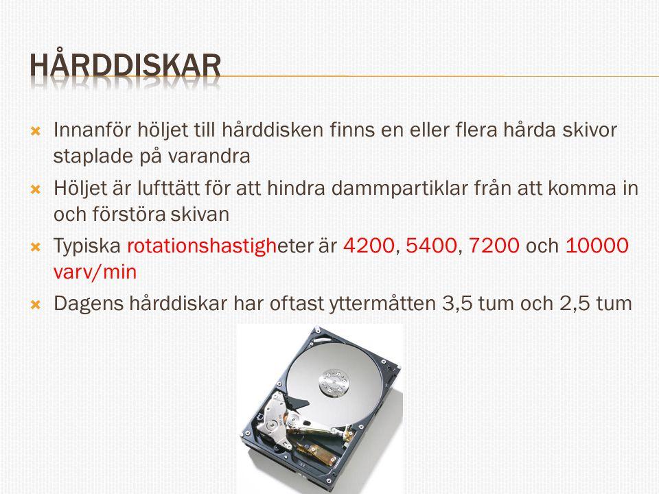  Disklänkande volym (spanned)  Består av minst två olika partitioner, på samma disk eller på flera diskar  Partitionerna som ingår i denna volym länkas ihop av operativsystemet och uppfattas som en enda volym  De diskar som ingår i en Disklänkande volym måste vara Dynamiska  I en disklänkande volym så fylls de ingående partitionerna upp en i taget Full Tom Disk 1Disk 2 Disk 3