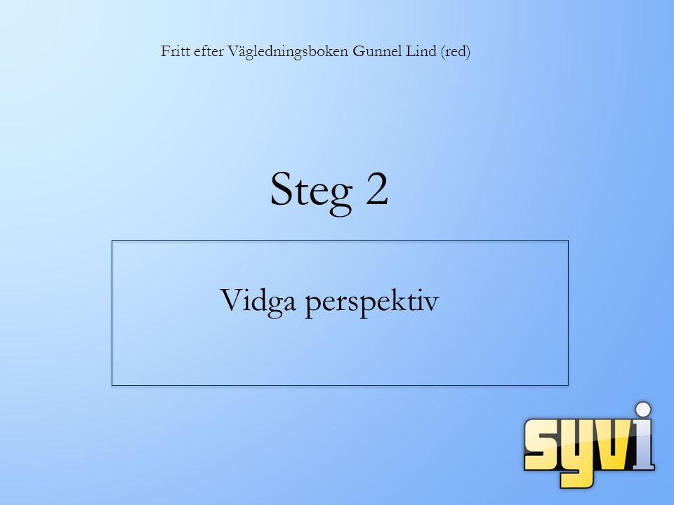 Steg 2 Vidga perspektiv Fritt efter Vägledningsboken Gunnel Lind (red)