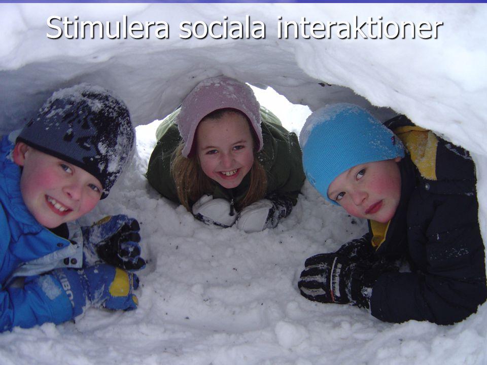 Stimulera sociala interaktioner