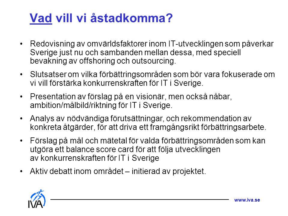 www.iva.se Vad vill vi åstadkomma.