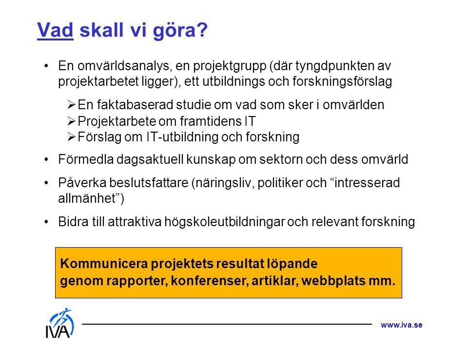 www.iva.se Vad skall vi göra.