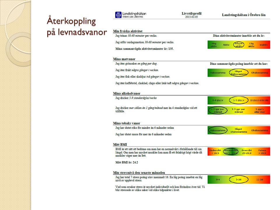 Sammanställning av webbenkäten Översiktligt sammanställning av personalens levnadsvanor