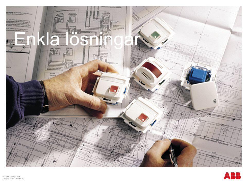 Enkla lösningar © ABB Group WA July 9, 2014 | Slide 10