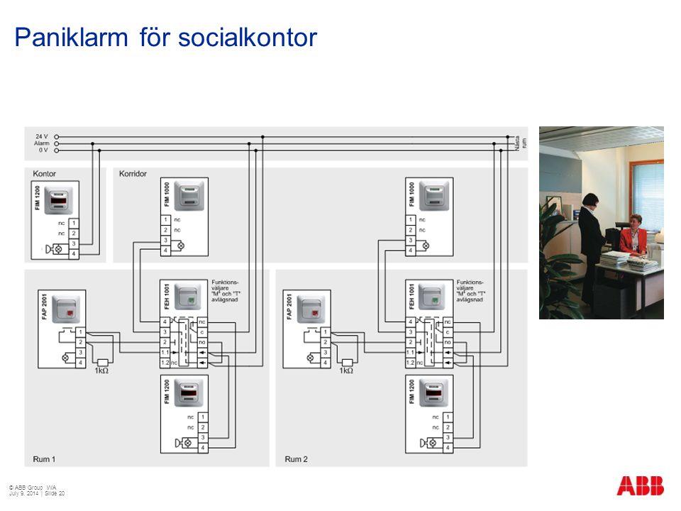 Paniklarm för socialkontor © ABB Group WA July 9, 2014 | Slide 20
