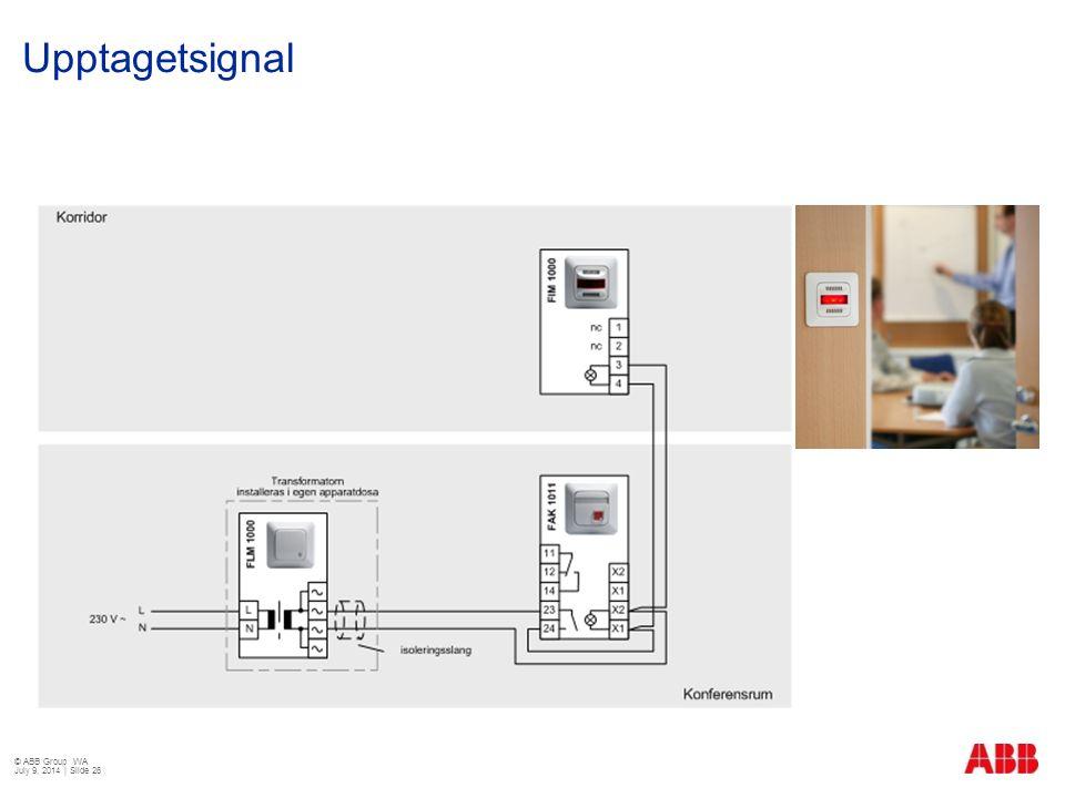 Upptagetsignal © ABB Group WA July 9, 2014 | Slide 26