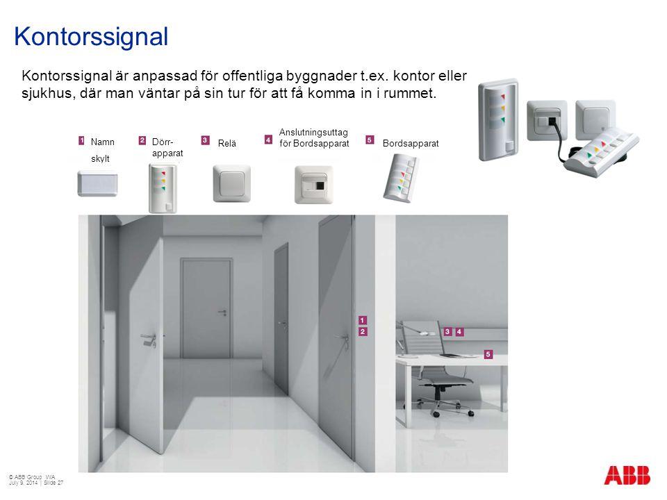 Kontorssignal Kontorssignal är anpassad för offentliga byggnader t.ex. kontor eller sjukhus, där man väntar på sin tur för att få komma in i rummet. D