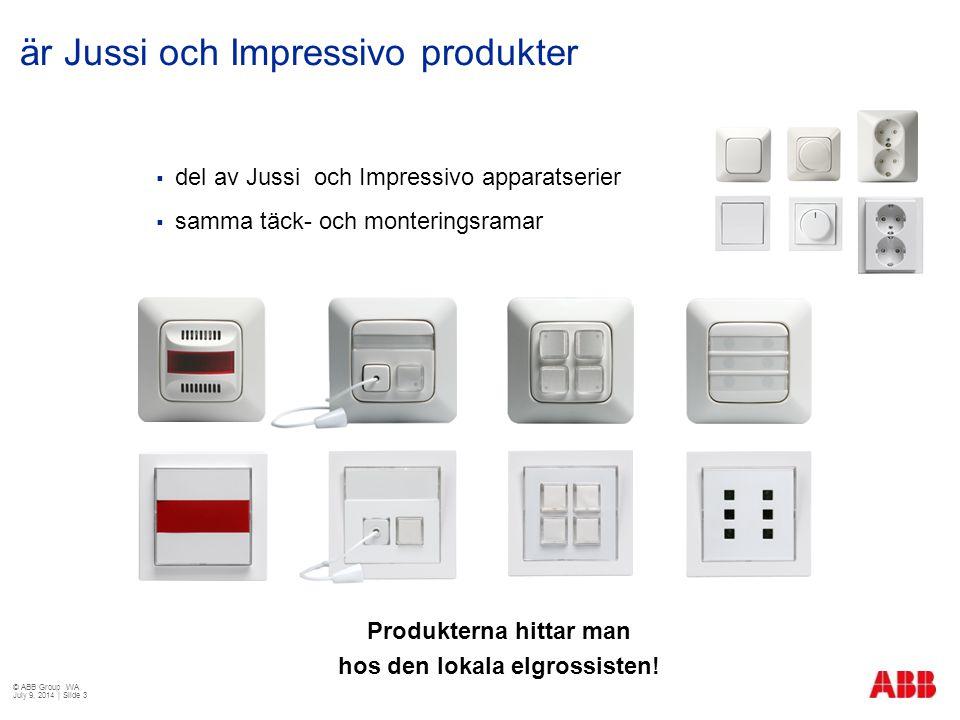  del av Jussi och Impressivo apparatserier  samma täck- och monteringsramar är Jussi och Impressivo produkter Produkterna hittar man hos den lokala