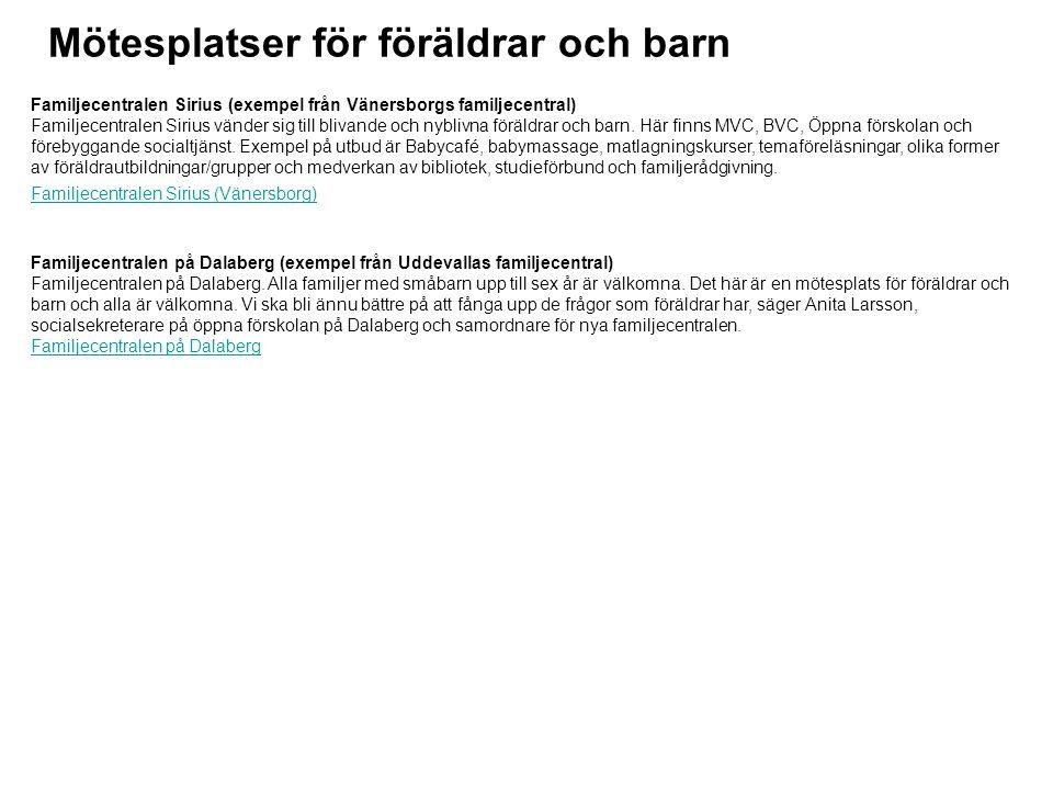 Kurser/studiecirklar/föräldragrupper Föräldra / barngrupper (exempel från Bengtsfors) Under 2012 kommer Bengtsfors kommun tillsammans med intresserade föreningar erbjuda föräldra/barn-grupper där syftet är att stödja föräldrar och barn till en aktiv fritid genom föreningslivet.