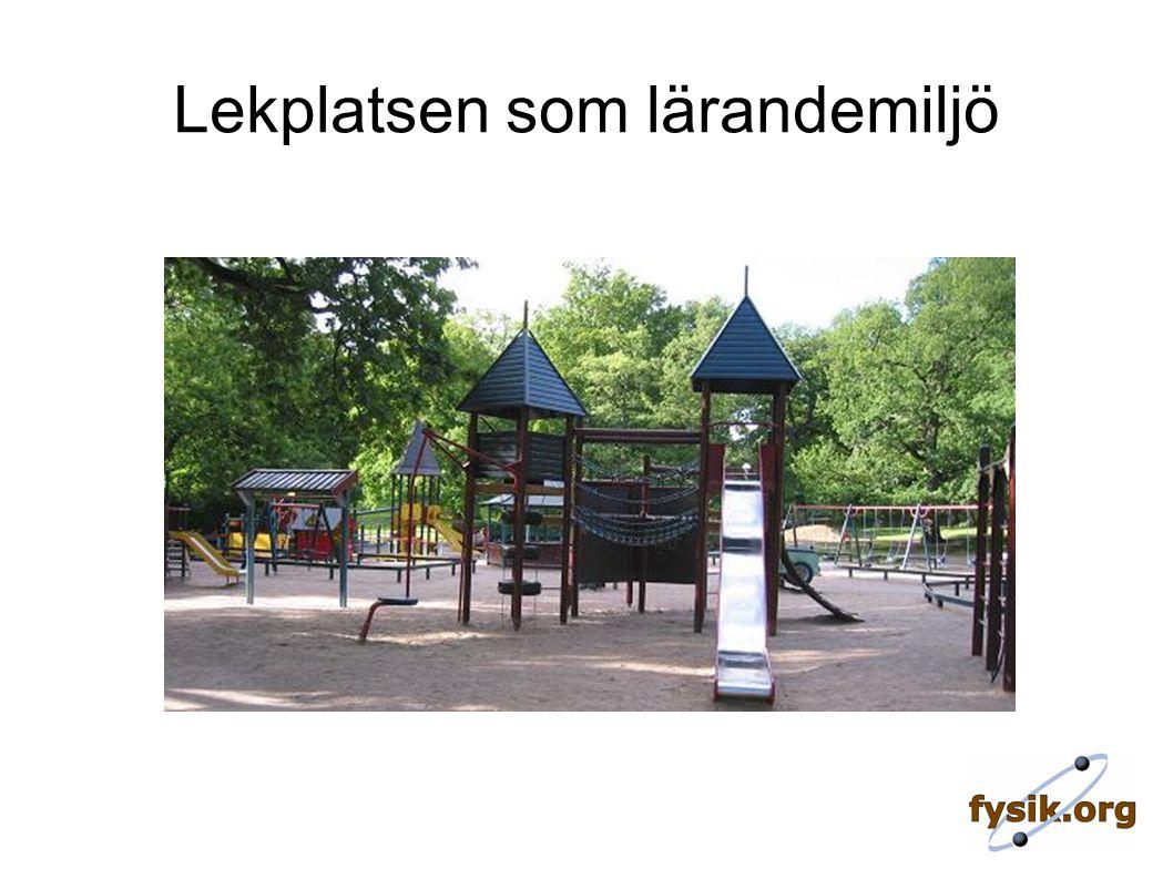 Lekplatsfysik Varför lekplatsfysik.