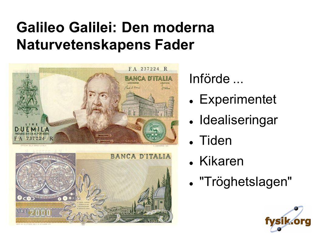 Galileo Galilei: Den moderna Naturvetenskapens Fader Införde...