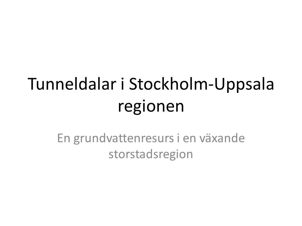 Var kan man förvänta sig att hitta tunneldalar i Stockholms- Uppsalaområdet.