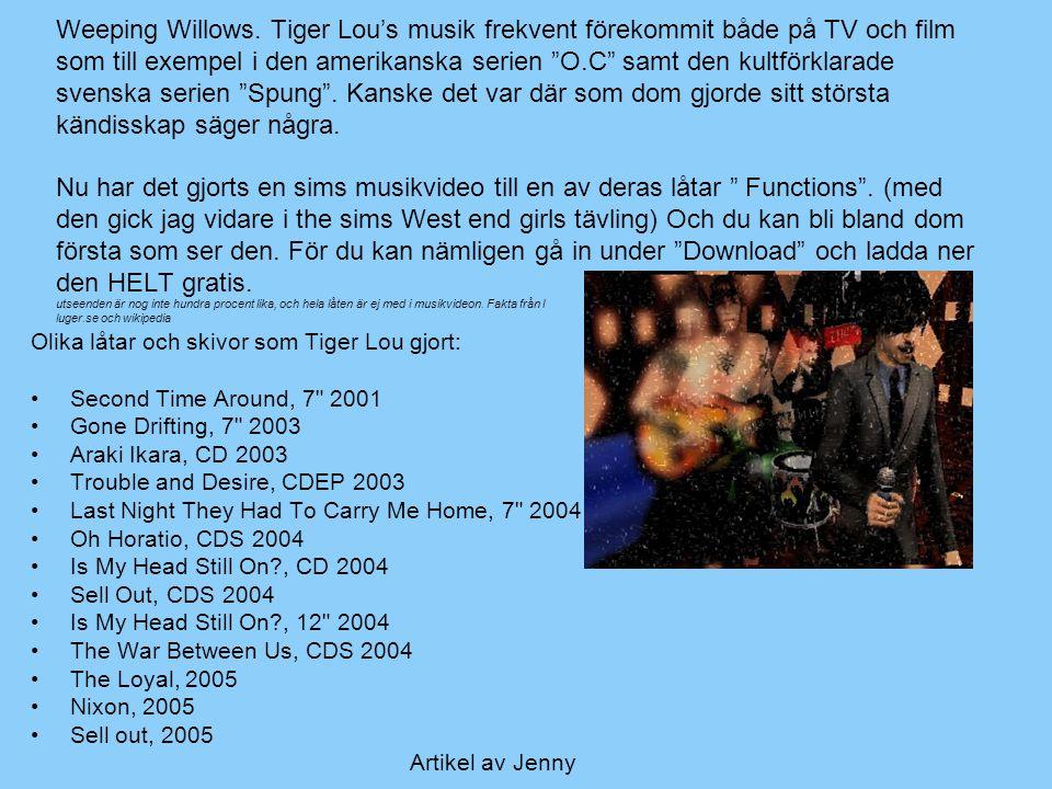 Olika låtar och skivor som Tiger Lou gjort: Second Time Around, 7