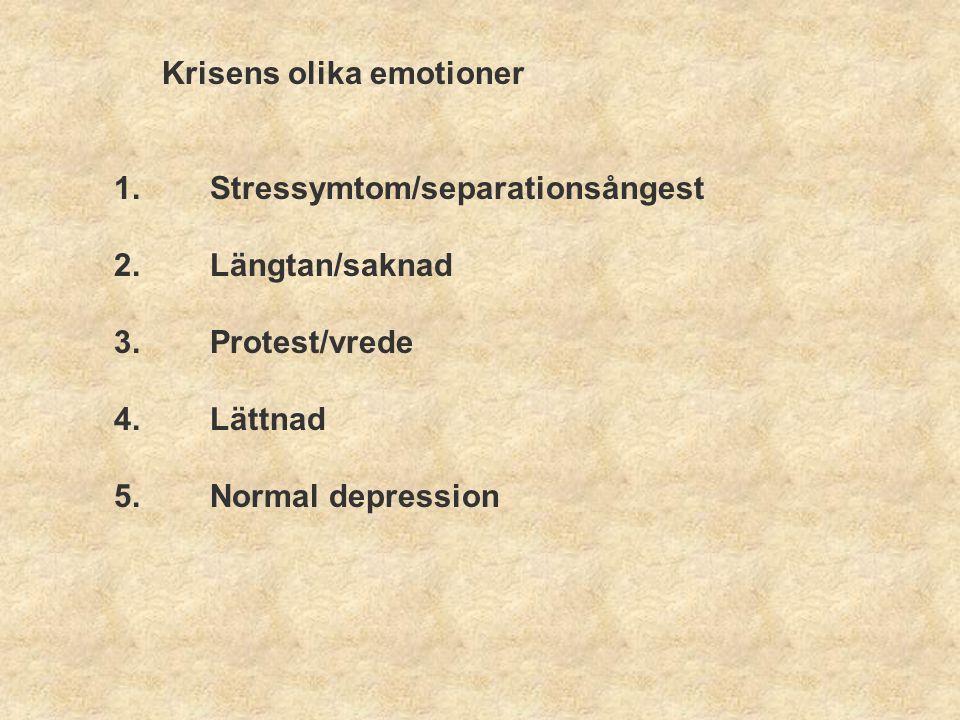 Kriterier för normal sorg enligt Frank Sorgereaktionen börjar inom 14 dagar efter förlusten.