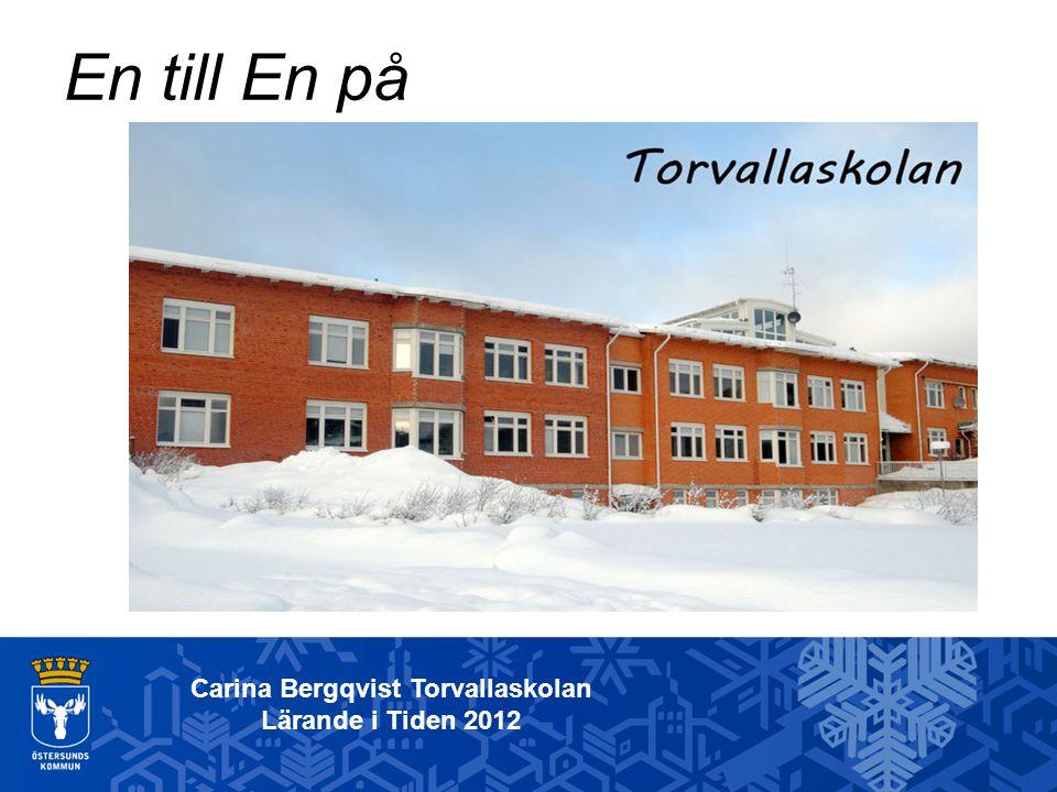 Carina Bergqvist Torvallaskolan Lärande i Tiden 2012 Bakgrund: Torvallaskolan har under ett par år funderat på olika sätt att stödja elevernas utveckling.