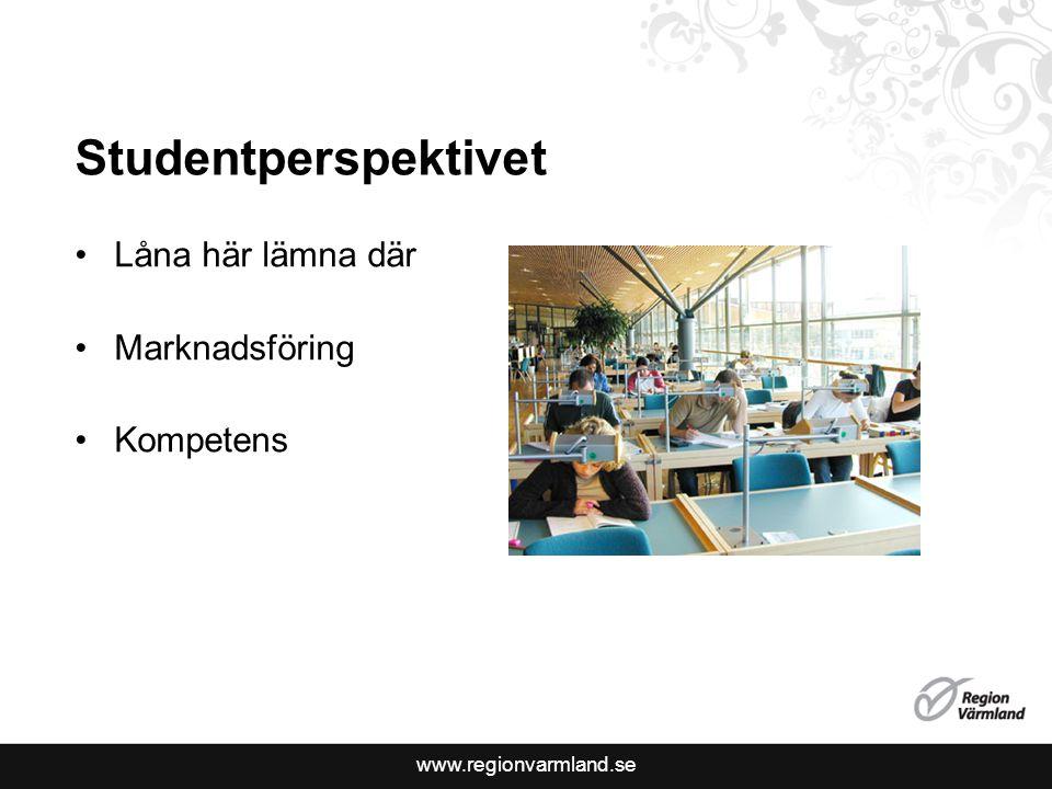 www.regionvarmland.se Låna här lämna där Marknadsföring Kompetens Studentperspektivet