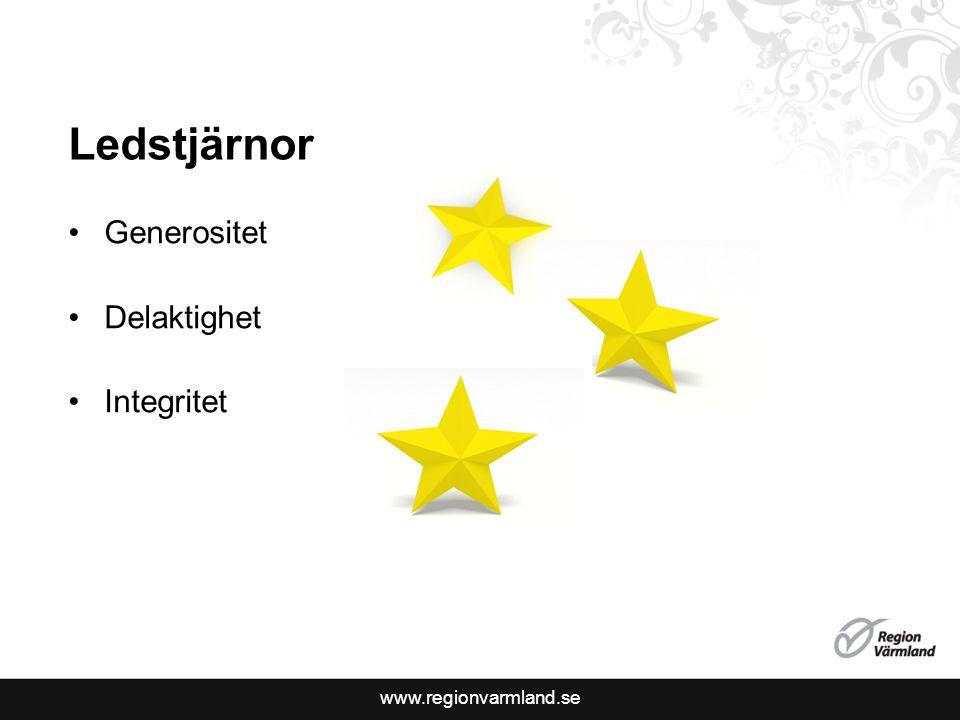 www.regionvarmland.se Ledstjärnor Generositet Delaktighet Integritet