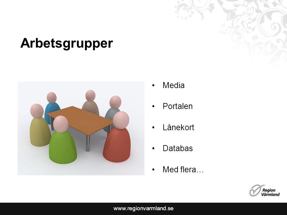 www.regionvarmland.se Arbetsgrupper Media Portalen Lånekort Databas Med flera…