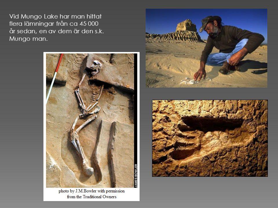 De äldsta aboriginerna har lämnat spår efter sig i form av bland annat grottmålningar.