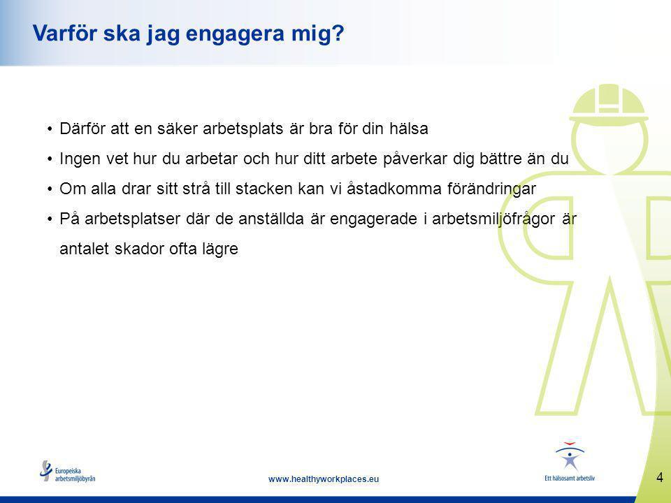 4 www.healthyworkplaces.eu Varför ska jag engagera mig.