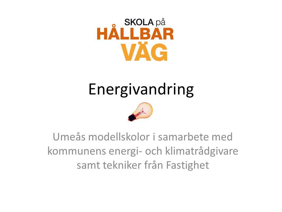 Energivandring Umeås modellskolor i samarbete med kommunens energi- och klimatrådgivare samt tekniker från Fastighet