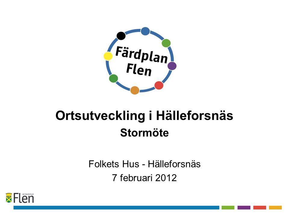 Ortsutveckling i Hälleforsnäs Stormöte Folkets Hus - Hälleforsnäs 7 februari 2012
