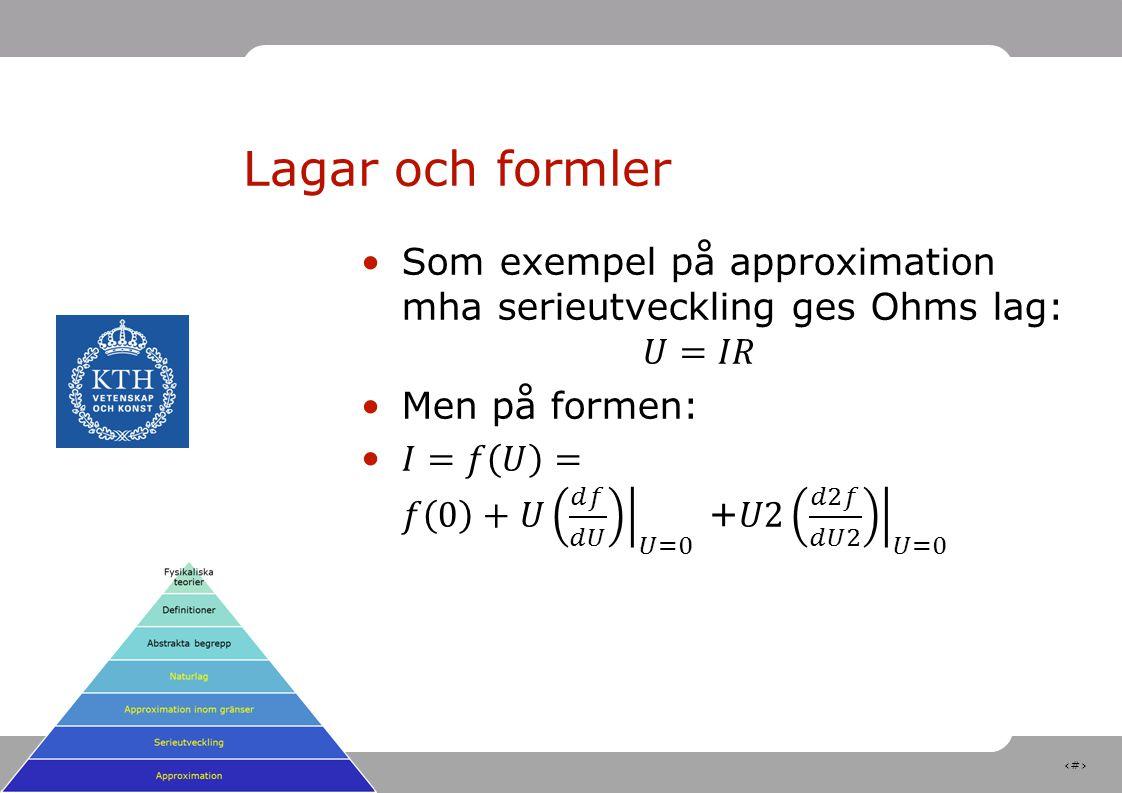 10 Lagar och formler