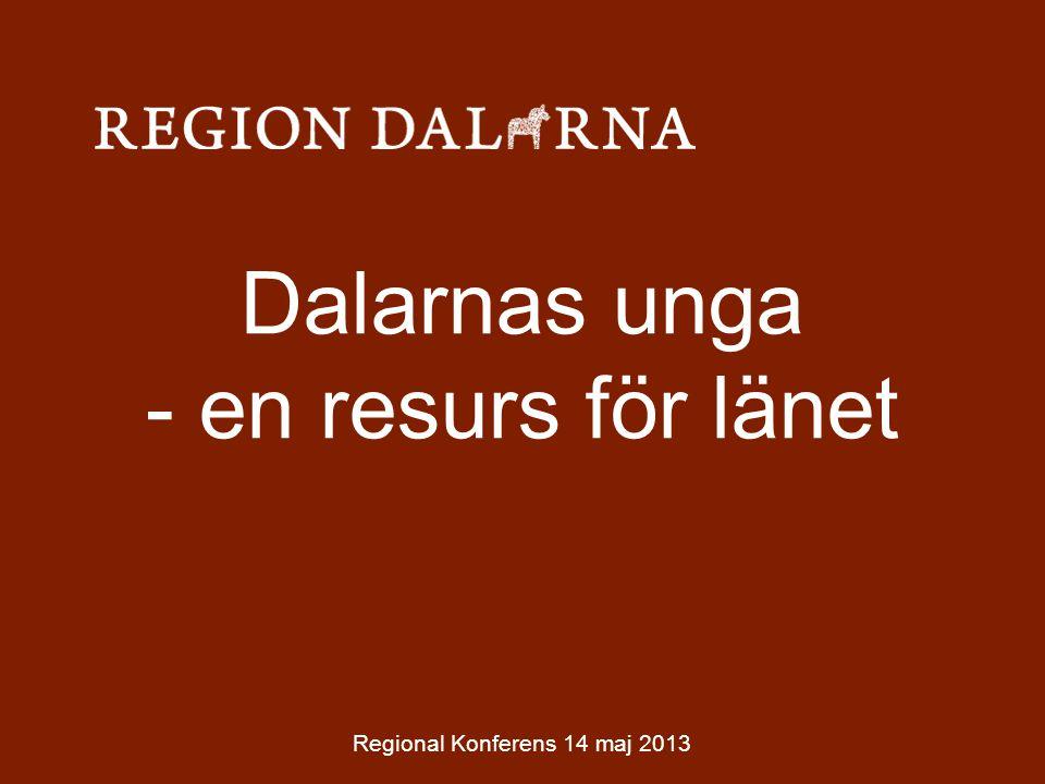 Dalarnas unga - en resurs för länet Regional Konferens 14 maj 2013